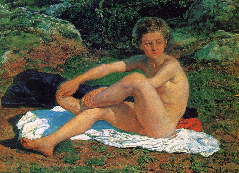 A Naked Boy, study for The Appearance of Christ before the People. Alexander Ivanov