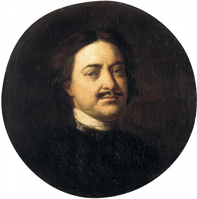 Портрет Петра I. 55х55 см (круг). Ivan Nikitin
