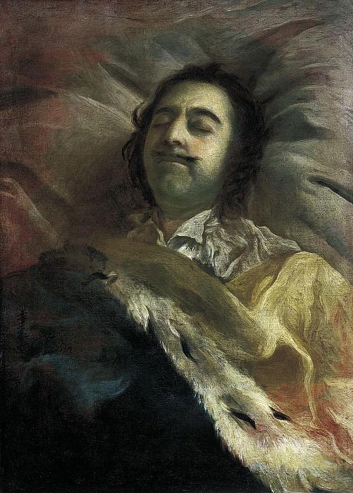 Петр I на смертном ложе. 1725. Холст, масло. 37х54 см. Ivan Nikitin