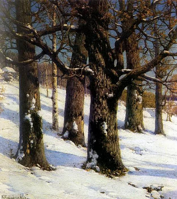 Дубы. 1893. Konstantin Kryzhitsky