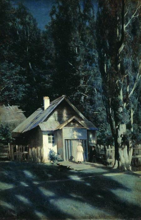 Скит в лунную ночь. 1898. Konstantin Kryzhitsky