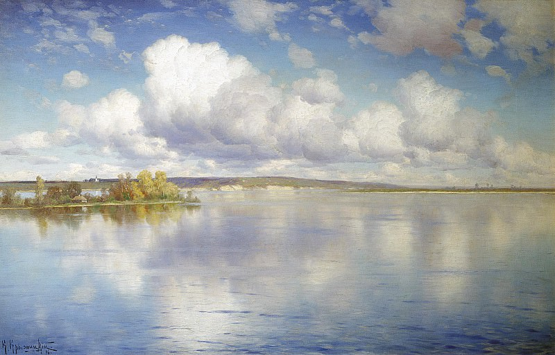 Озеро 1896 холст масло 54х85 см. Konstantin Kryzhitsky