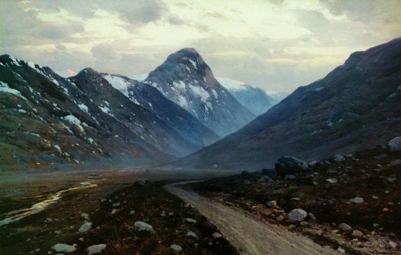 Дорога в горах. 1897. Константин Крыжицкий