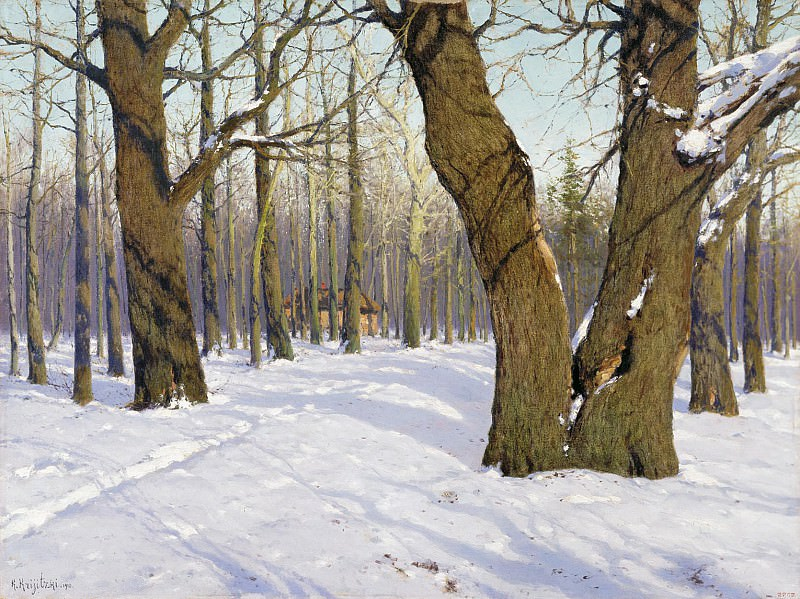 Повеяло весной 1910 Холст масло 81х109 см. Konstantin Kryzhitsky