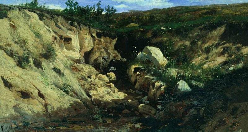 Овраг. 1882. Константин Крыжицкий
