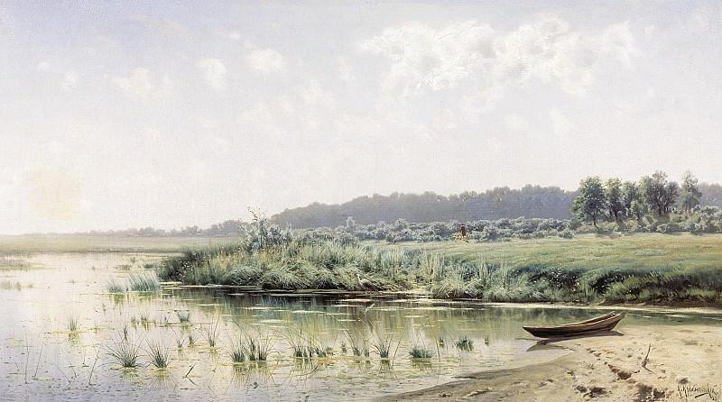 Перед полуднем 1885 холст масло 75х133 см. Константин Крыжицкий