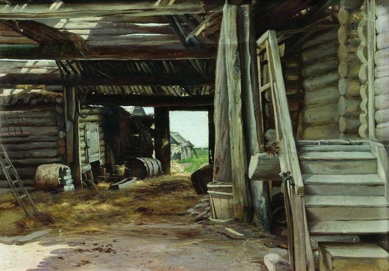 Двор. 1886. Константин Крыжицкий