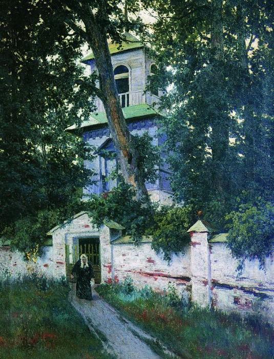 Церковная ограда. 1905. Константин Крыжицкий