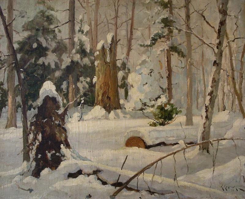 Зимний лес. 1899. Konstantin Kryzhitsky