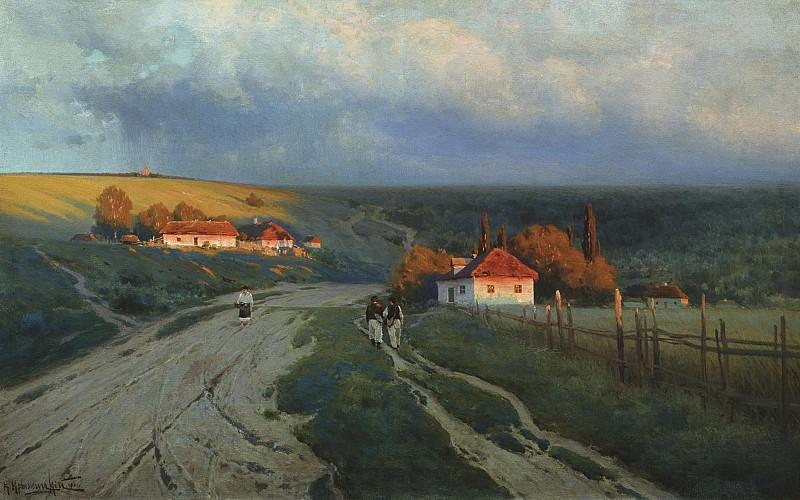 Вечер на Украине 1901 Холст масло. Konstantin Kryzhitsky