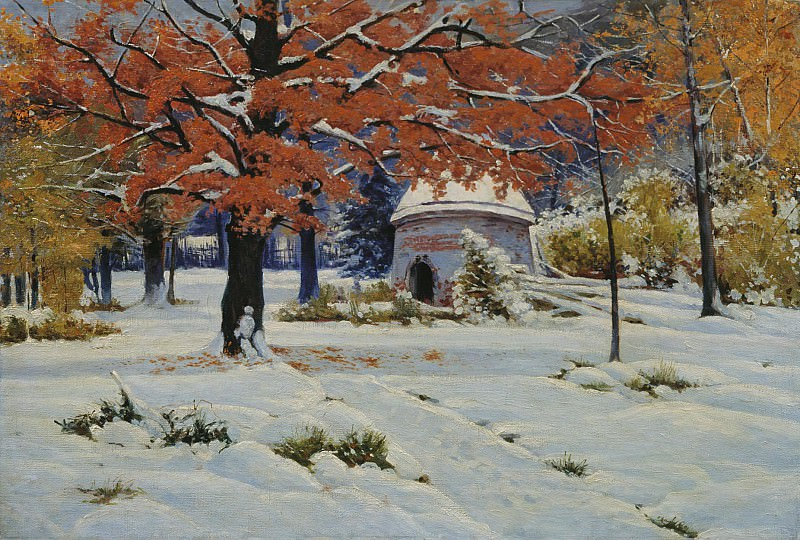 Ранний снег Холст масло. Константин Крыжицкий