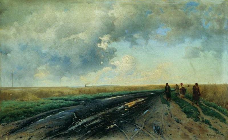 Дорога после дождя. 1887. Konstantin Kryzhitsky