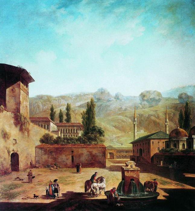 Вид города Бахчисарая. 1798-1800. Fedor Alexeev