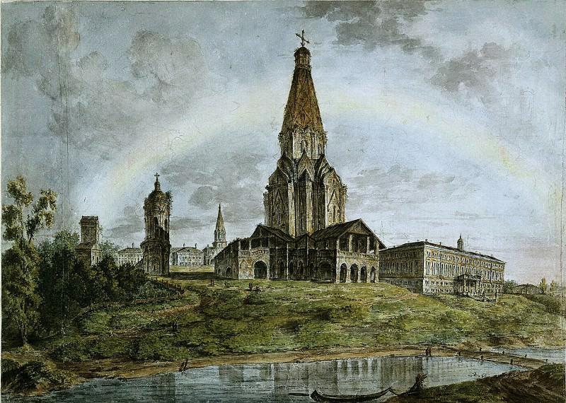 Панорамный вид Коломенского. 1800-е. Fedor Alexeev