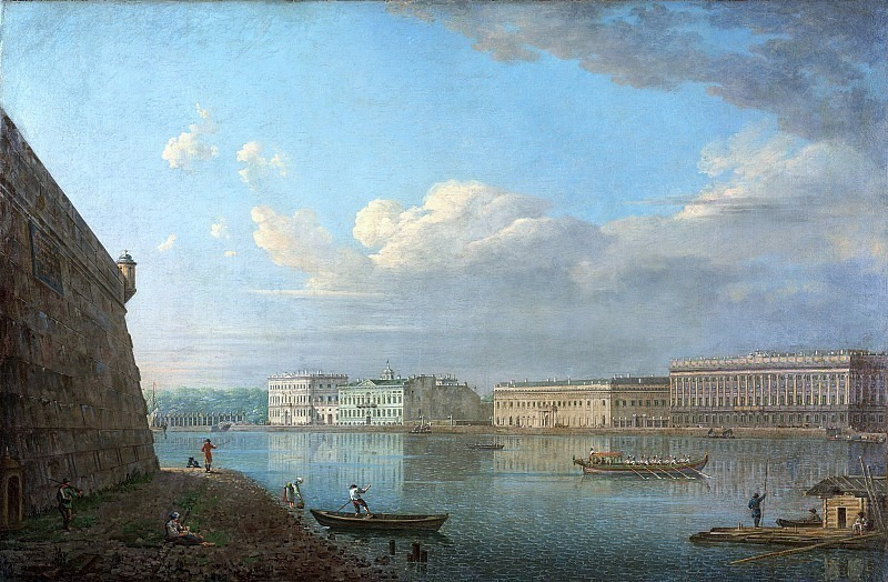 View of the Palace Embankment from the Peter and Paul Fortress. Fedor Alexeev
