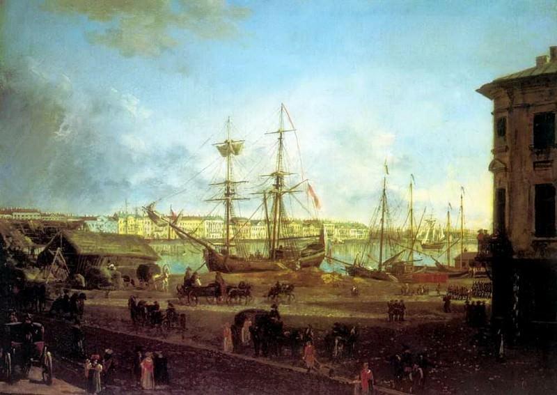 Вид Английской набережной со стороны Васильевского острова. Fedor Alexeev
