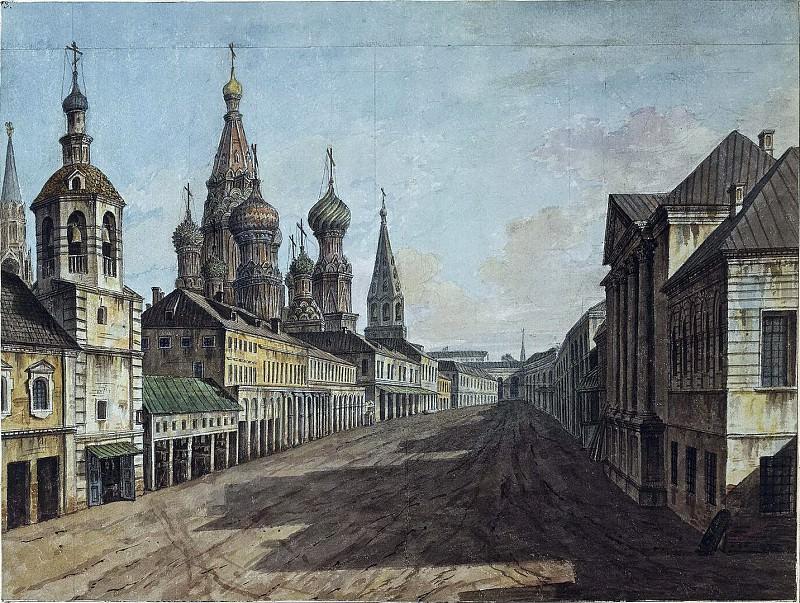 Вид храма Василия Блаженного от Москворецкой улицы. Fedor Alexeev