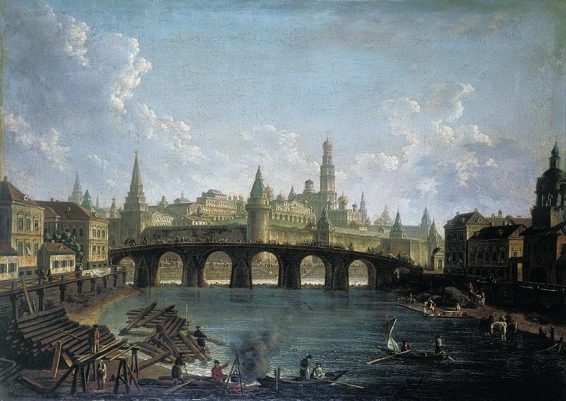 Вид на Московский Кремль со стороны Каменного моста. Fedor Alexeev