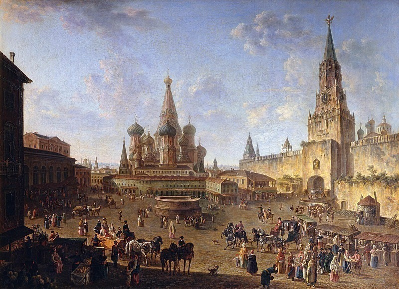 Red Square in Moscow. Fedor Alexeev