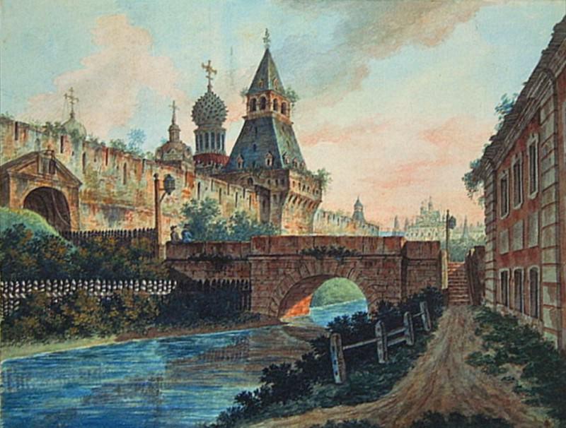 Вид Владимирских (Никольских) ворот Китай-города. 1800-е. Fedor Alexeev