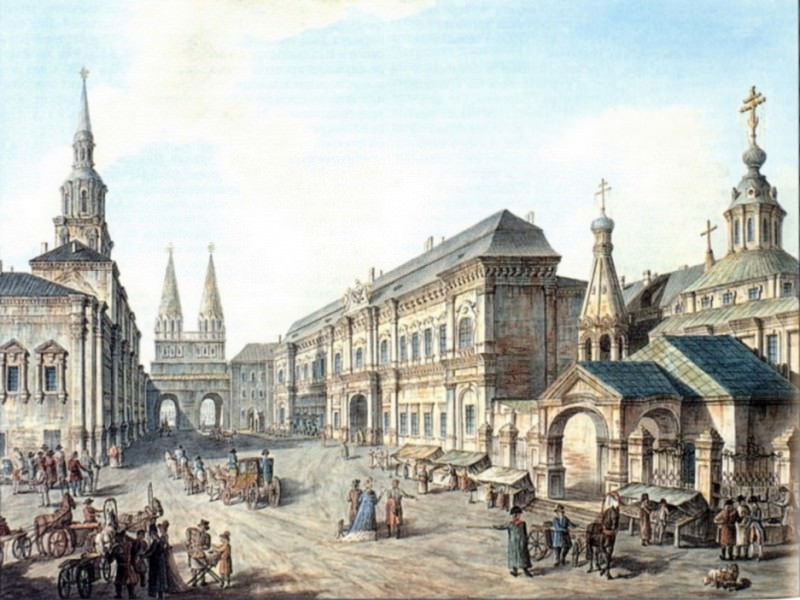 Cеверная сторона Красной Площади. 1802. Fedor Alexeev