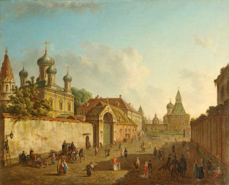 Вид от Лубянки на Владимирские ворота.1800-е. Fedor Alexeev