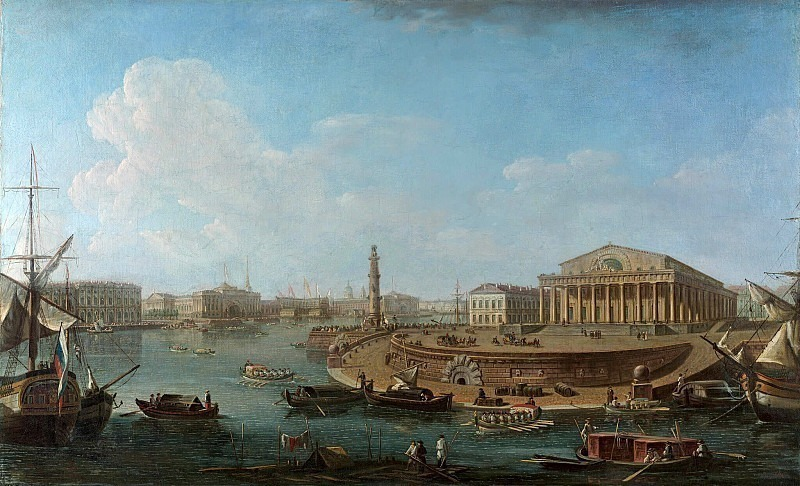 View of the Stock Exchange and the Admiralty from the Peter and Paul Fortress. Fedor Alexeev