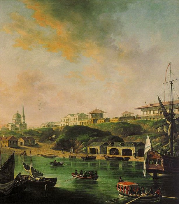 Вид города Николаева. 1799. Fedor Alexeev