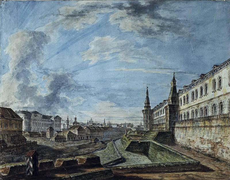 Вид Москвы от Троицких ворот Кремля. 1810-е. Fedor Alexeev