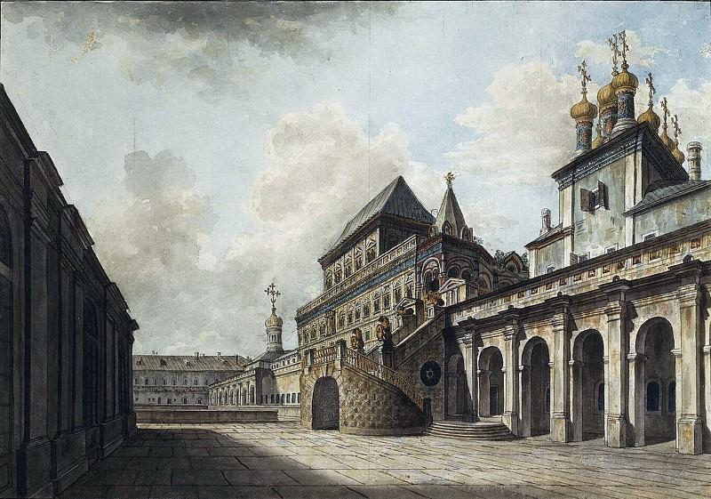 Боярская площадка в Московском Кремле. 1810-е. Fedor Alexeev