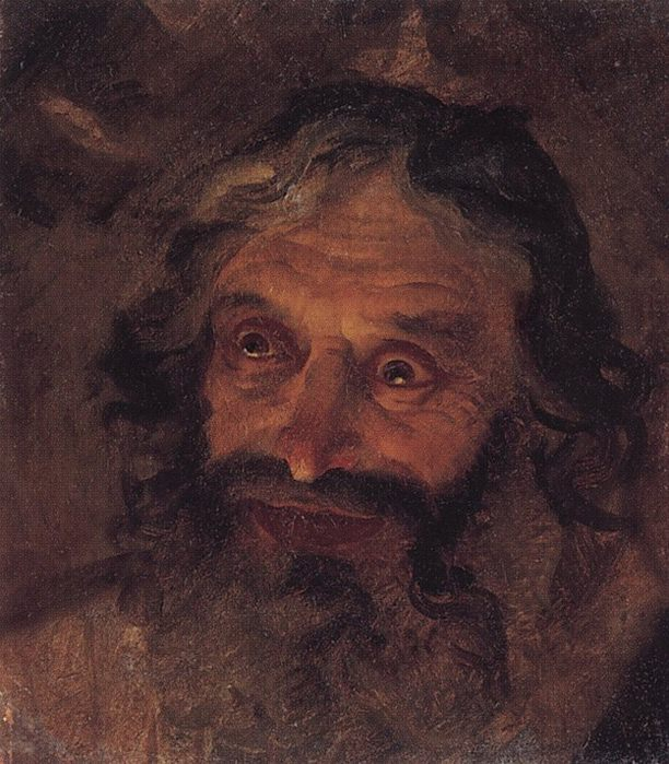 Голова еврея. Конец 1850-х - начало 1860-х.. Nikolay Ge