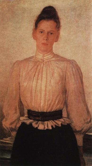 Портрет М.Л.Толстой, дочери писателя. 1891. Николай Николаевич Ге