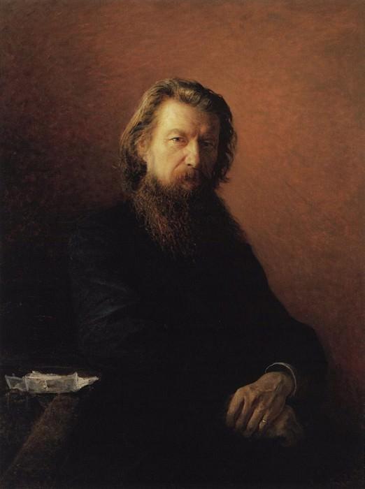 Портрет А.А.Потехина. 1876.. Nikolay Ge