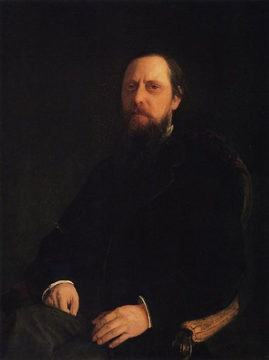 Портрет писателя М.Е. Салтыкова-Щедрина. 1872.. Nikolay Ge