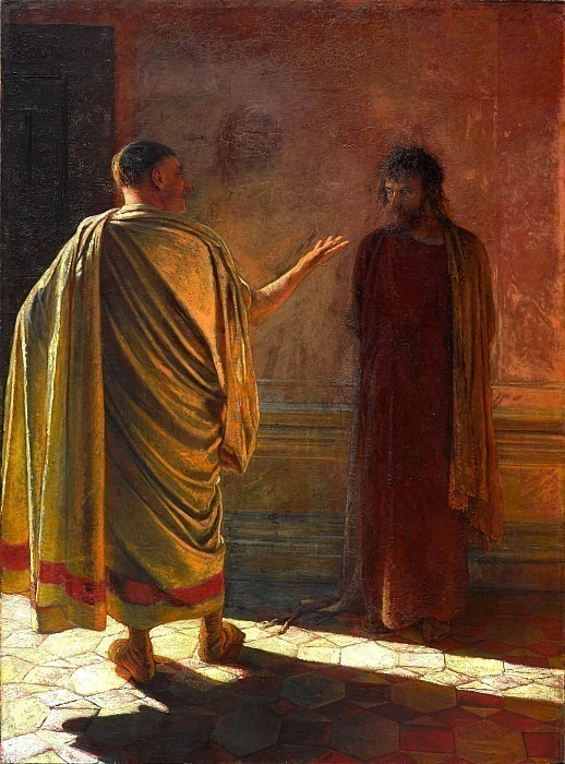 What is truth? Christ and Pilate. Nikolay Ge