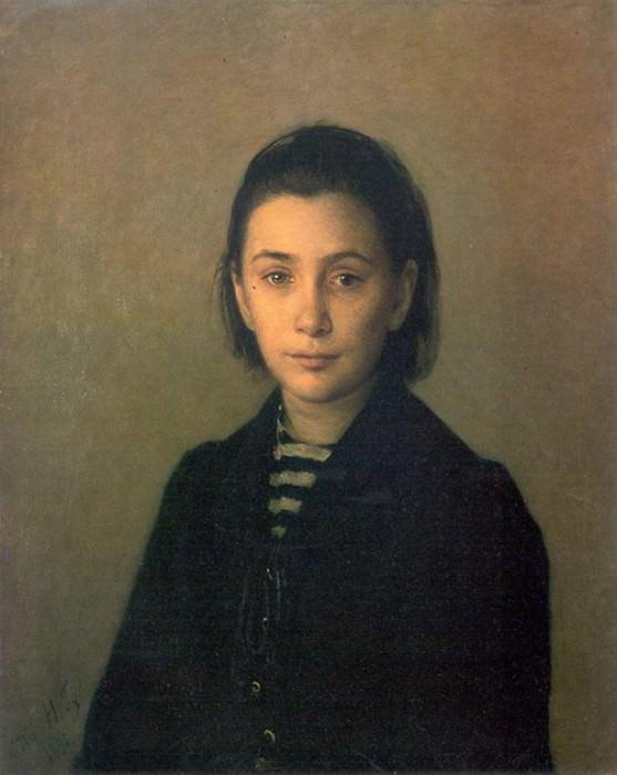 Портрет О.П.Костычевой 1891. Nikolay Ge