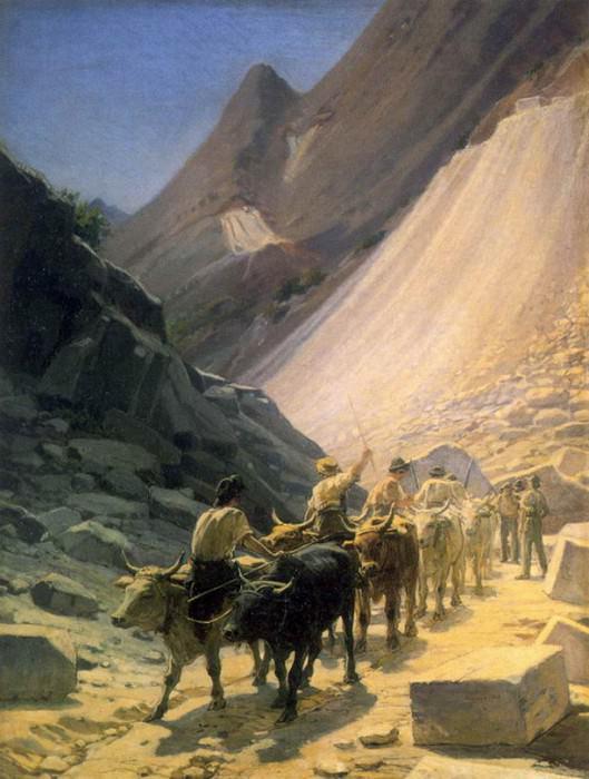 Перевозка мрамора в Карраре. 1868. Nikolay Ge