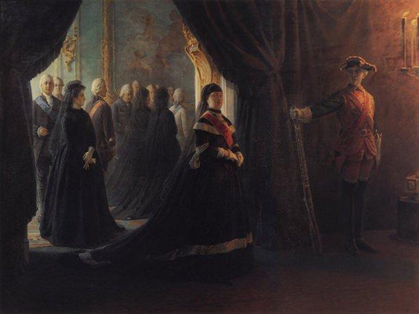 Екатерина II у гроба императрицы Елизаветы. Nikolay Ge