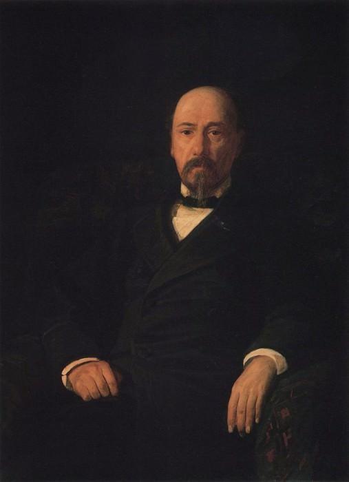 Портрет поэта Н.А.Некрасова. 1872.. Nikolay Ge