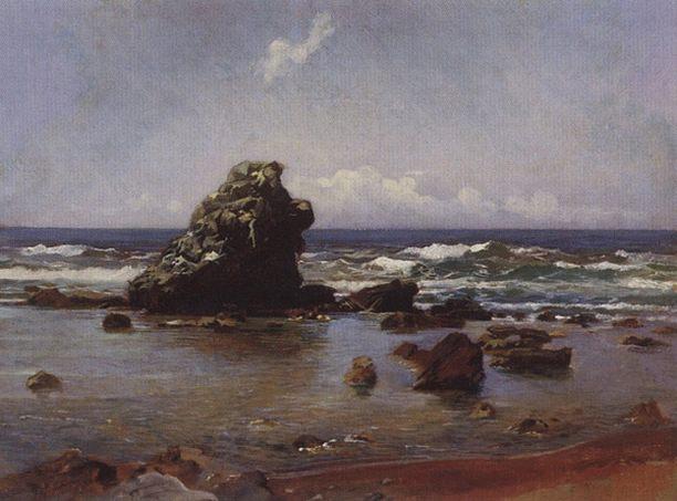 Морской залив. Ливорно. 1862.. Nikolay Ge