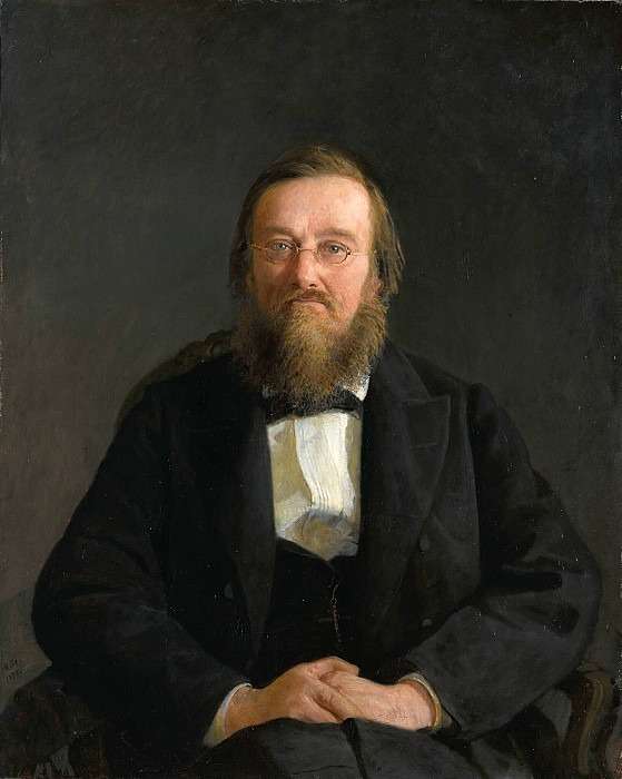 Portrait of the historian Nikolai Ivanovich Kostomarov. Nikolay Ge