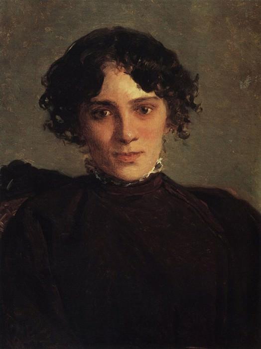 Портрет М.П.Габаевой. 1886. Nikolay Ge