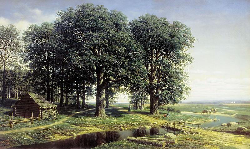 Дубовая роща. 1863, холст, масло, 98х160. Mikhail Clodt