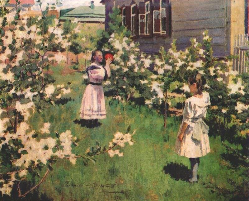borisov-musatov flowers in may 1894. Viktor Borisov-Musatov