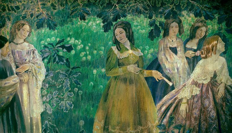 Изумрудное ожерелье 1904. Viktor Borisov-Musatov (Borisov-Musatov - The Emerald Necklace)