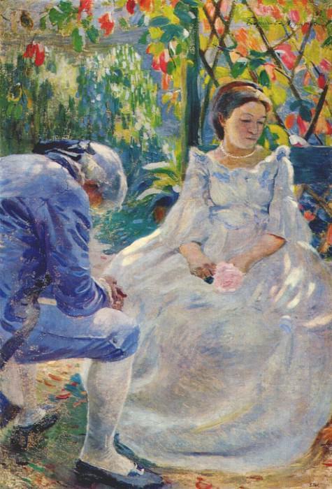 borisov-musatov autumn mood 1899. Viktor Borisov-Musatov