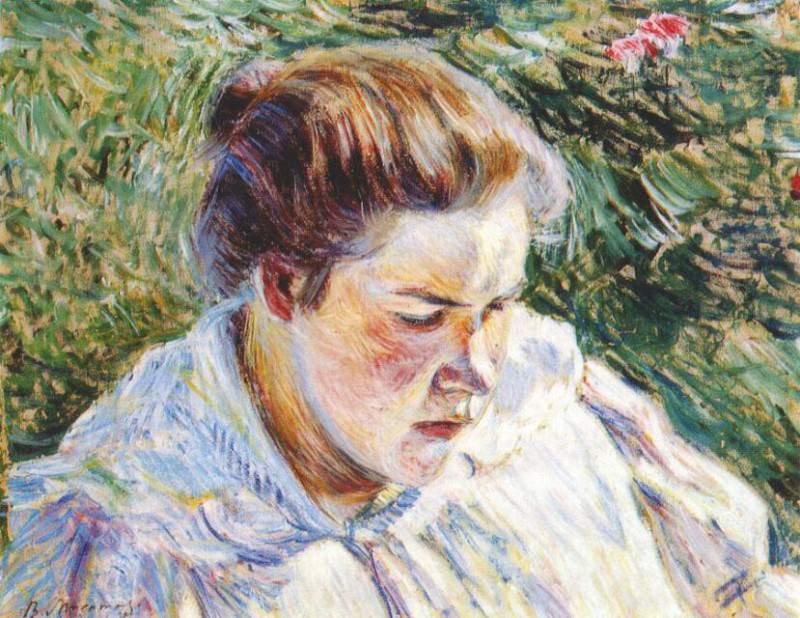borisov-musatov girl in the sunlight (study) 1897. Viktor Borisov-Musatov