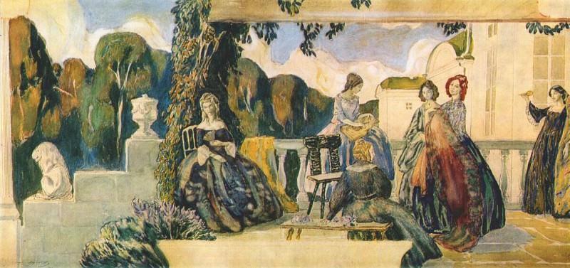 borisov-musatov summer melody (sketch for a panel) 1904-5. Viktor Borisov-Musatov