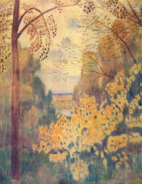 borisov-musatov hazel bush 1905. Viktor Borisov-Musatov