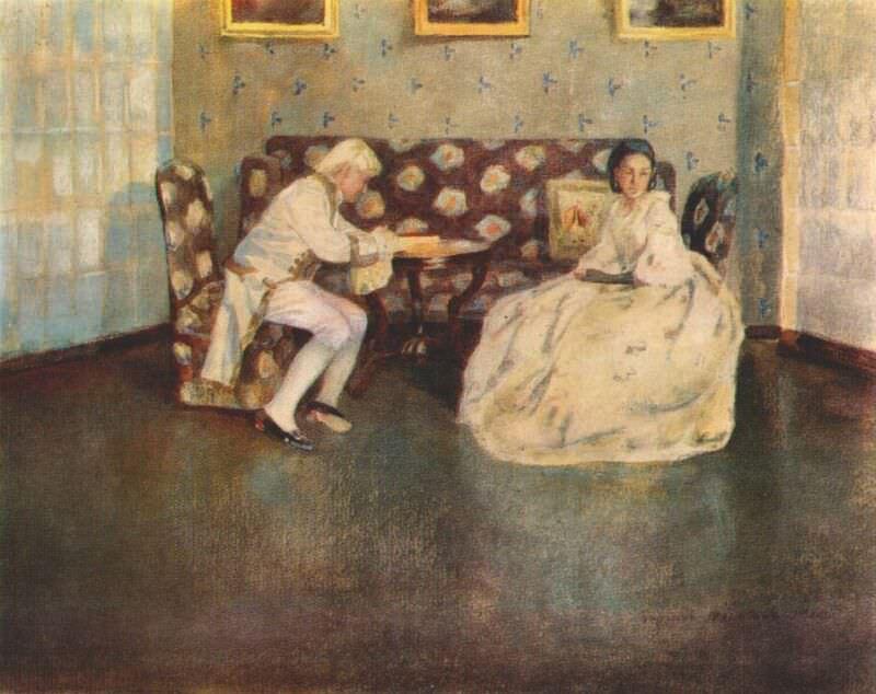 borisov-musatov silence 1900. Viktor Borisov-Musatov